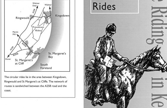 Booklet entitled 'Route 5, Freedown Rides, Horseriding in Kent' 1997