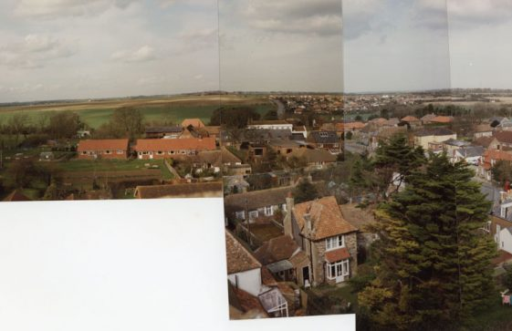 From St Margaret's church tower looking towards Nelson Park. March 1989