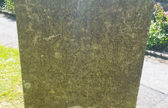 Gravestone of BURVILLE William 1804; BURVILLE Susan Loud 1806; BURVILLE Kingsford Wood 1806
