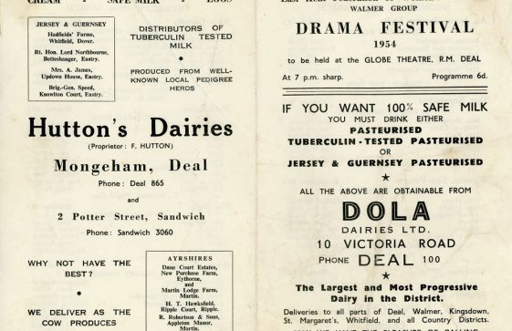 Programme for the WI Drama Festival 1954