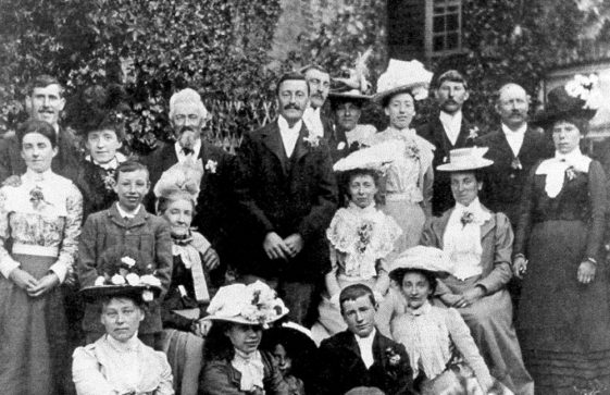 A group photograph at the wedding of Wallace Newman and Alice Clayson 8 June 1908