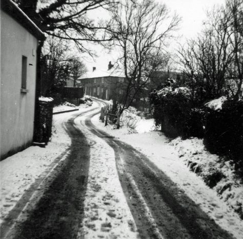 Chapel Lane and The Droveway in the snow. 1963