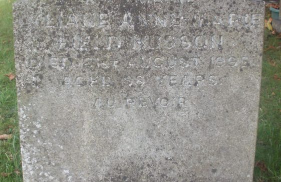 Gravestone of FIELD-HUSSON Liliane Anne-Marie 1995