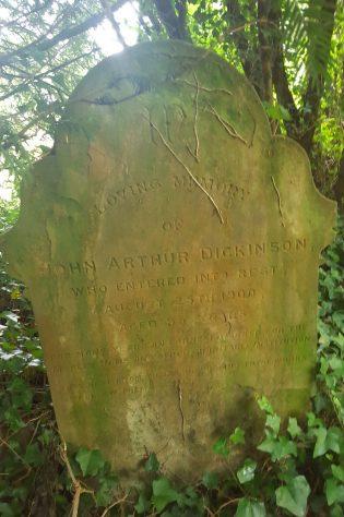 Gravestone of DICKINSON John Arthur 1900