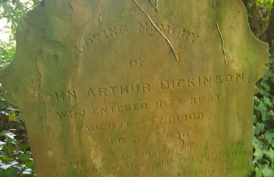 Gravestone of DICKINSON John Arthur 1900