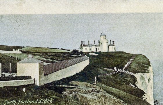 Lower South Foreland Lighthouse. sent to Mr Newman. picture dated 1898, postmark 1907.