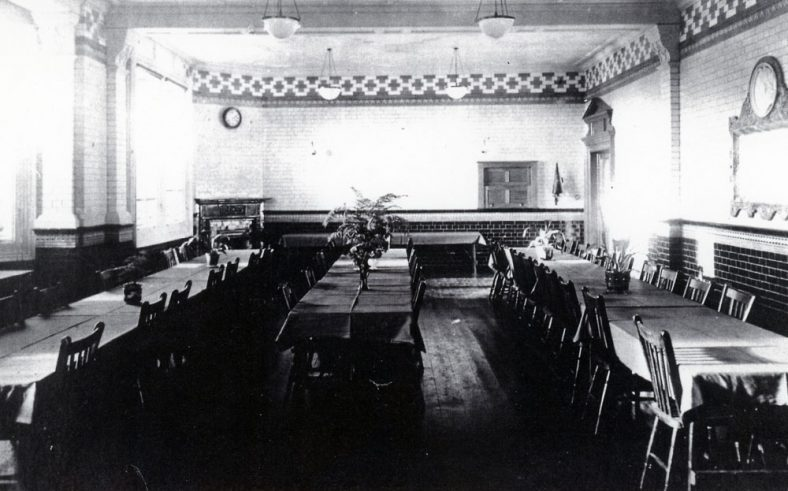 Dining room at Morley House c.1920