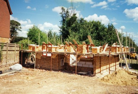 Amy Temple Cottages, Chapel Lane, construction. 1996