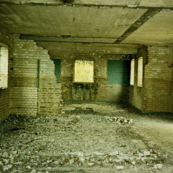 The interior of some WW2 military buildings used by the South Foreland Battery. 1986