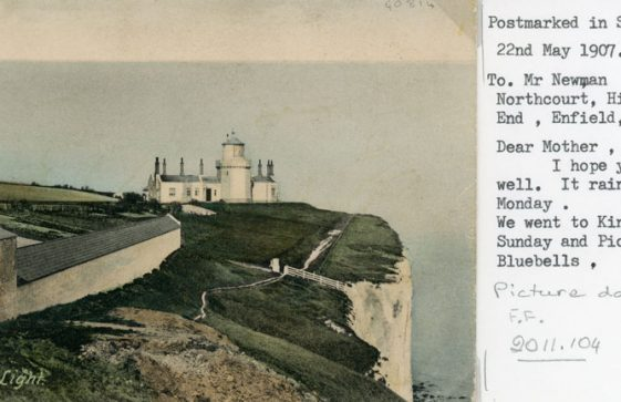 Lower South Foreland Lighthouse and testing gallery. 1898