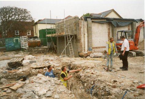 Part of former Knoll Garage site, High Street.  April 2004.