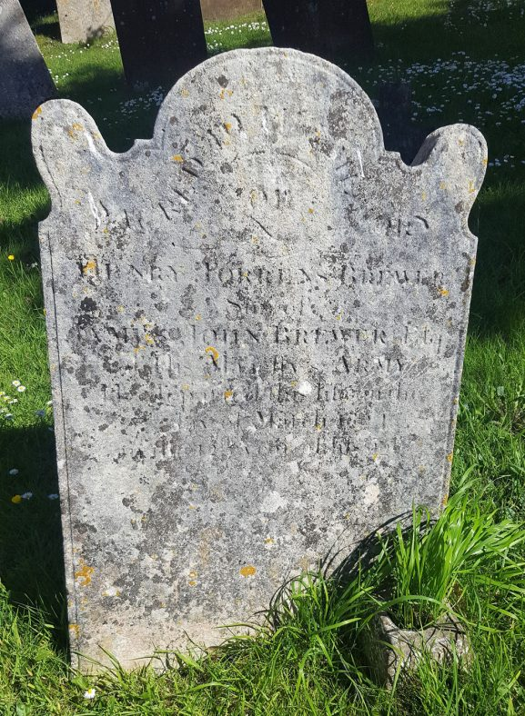 Gravestone of BREWER Henry Torrens 1824 | Dawn Sedgwick
