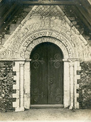 St Margaret's Church West doorway  Mid 20th century