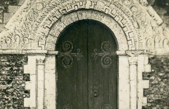 St Margaret's Church West doorway  Mid 20th century