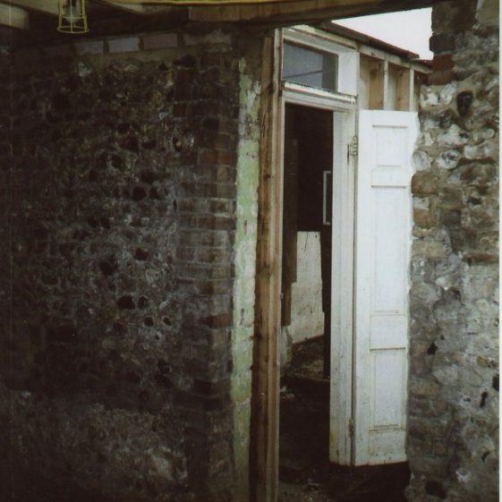 Erin Cottages, Well Lane during renovation works. 2008