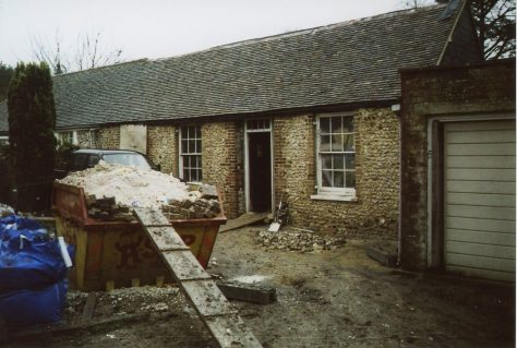 'Erin Cottages' in Well Lane, early renovation work. 2008