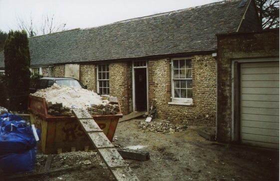 Erin Cottages Well Lane, early renovation work. 2008