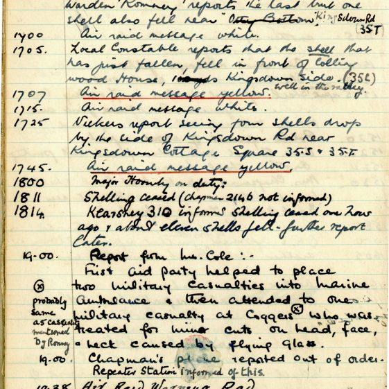 St Margaret's ARP (Air Raid Precautions) Log. Volume 3. 2 November 1940 - 17 February 1941. Pages 14-19