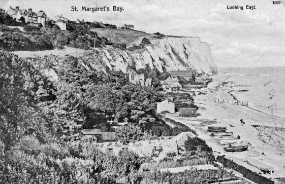 St Margaret's Bay from Ness Point. sent to Mr Newman. postmark 1909