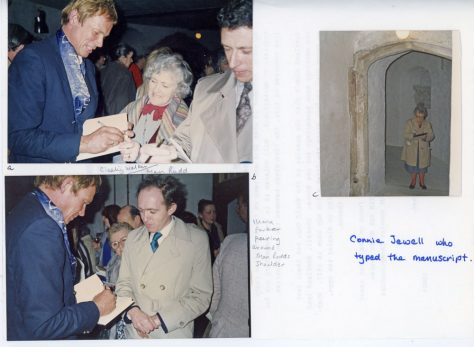 Anthony Aikman signing copies of his latest book at Deal Castle. 1987