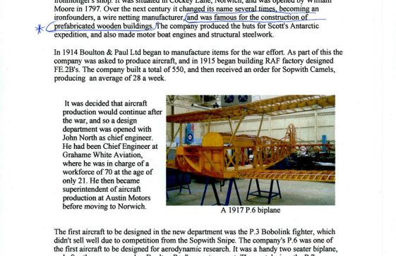 Information on Boulton Paul Aircraft. builder of La Maisonette, The Droveway.