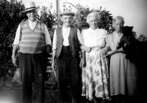 Annie Sharpe and her father and friends