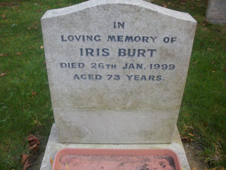 Gravestone of BURT Iris 1999 | Dawn Sedgwick