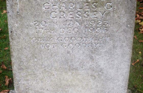 Gravestone of CRESSEY Charles G 1996