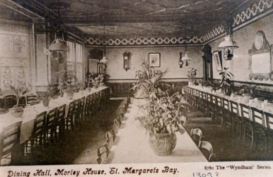 Dining room at Morley House before 1909