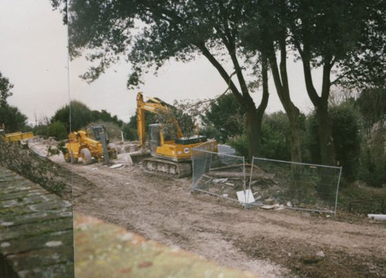 Granville Flats, Hotel Road: Work begins. 1997/8