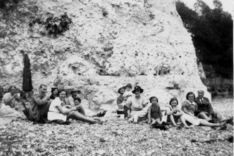 Denoon beach picnic at the western end of St Margaret's Bay. c1935
