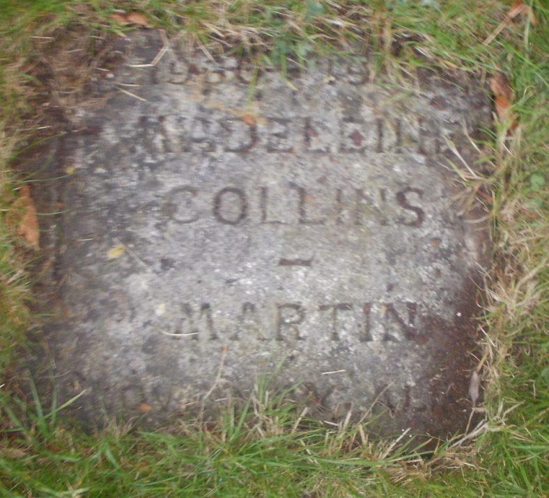 Gravestone of COLLINS-MARTIN Madeleine 1997 | Dawn Sedgwick