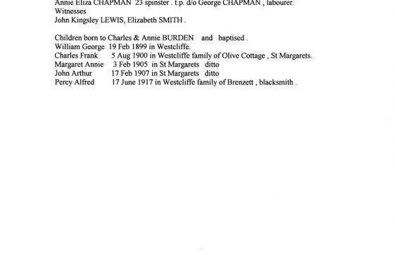 1841-1901 census extracts for St Margaret's blacksmiths