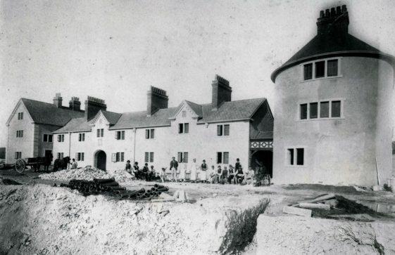 Coastguard Station, Bay Hill under construction. 1884