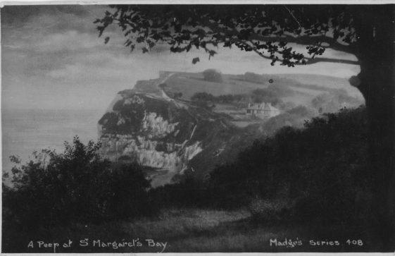 St Margaret's Bay from The Leas. postmark 1933