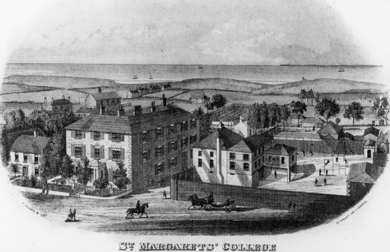 Engraving of St Margaret's College. c1825