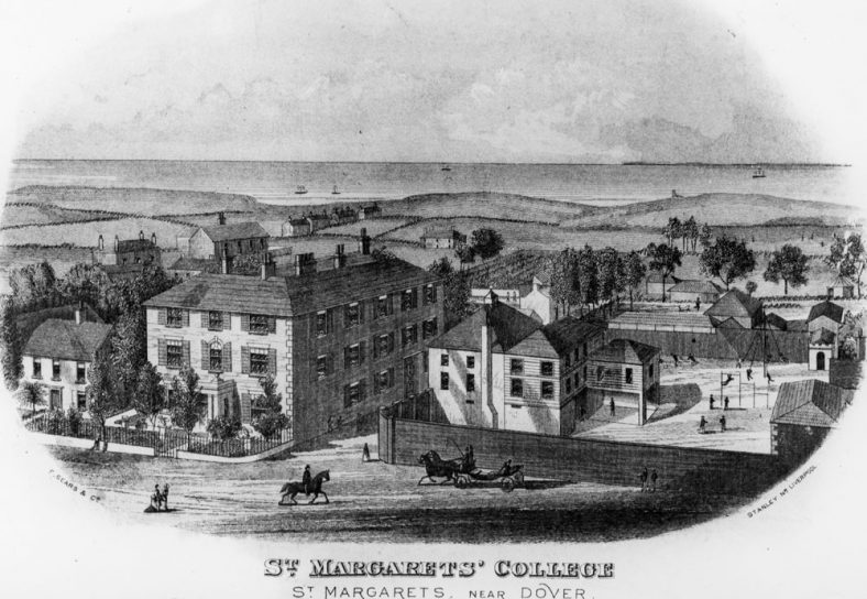 Engraving of St Margaret's College. c1860