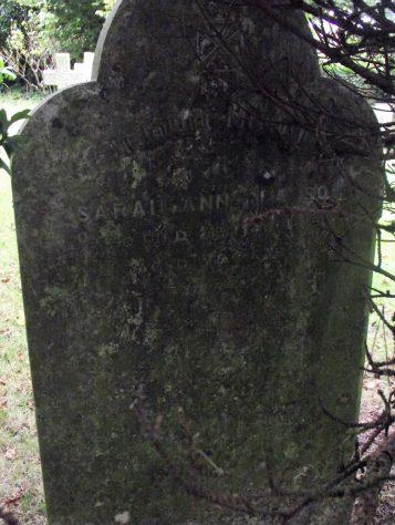 Gravestone of CLAYSON Sarah Ann 1922