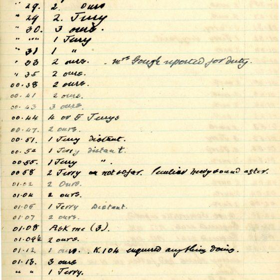 St Margaret's ARP (Air Raid Precautions) Log. Volume 7. 15 February 1943 - 25 October 1943. Pages 22-32