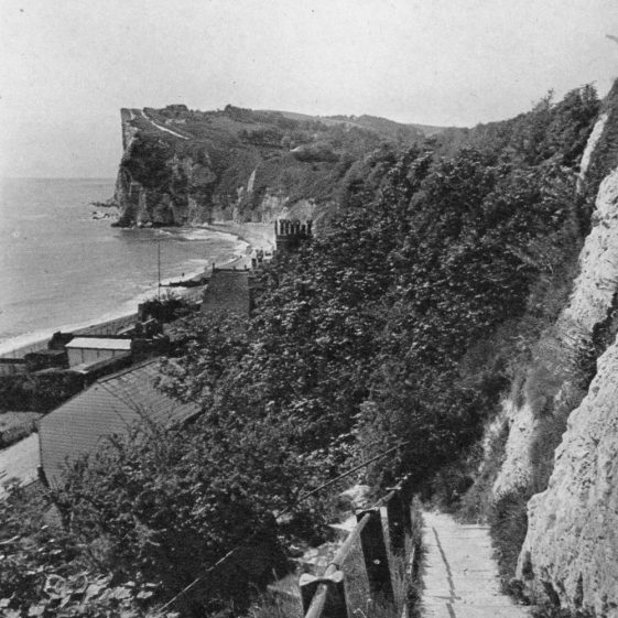 Crow's Nest and Zigzag Steps to St Margaret's Bay. 1920's