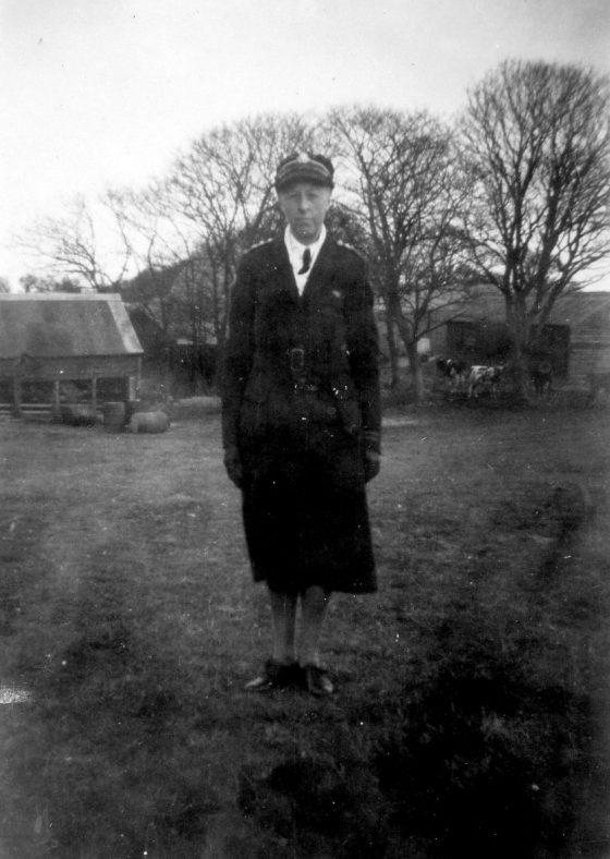 Annie Sharpe in uniform.