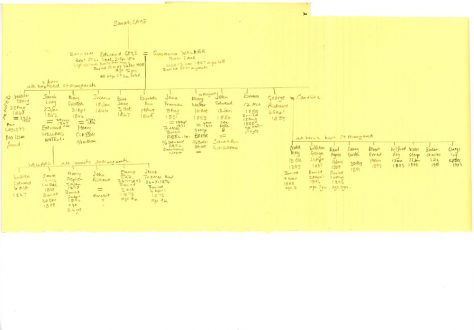 Gage and Wellard family trees, residents of Well Lane