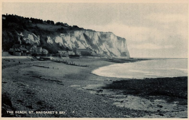 East Cliff from the beach. pre 1939