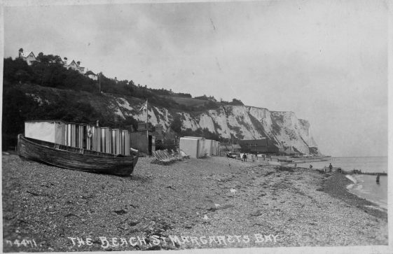 East Cliff from the beach.