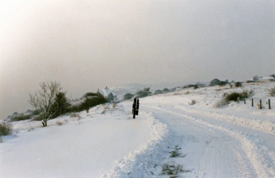 Granville Road in snow. February 1991