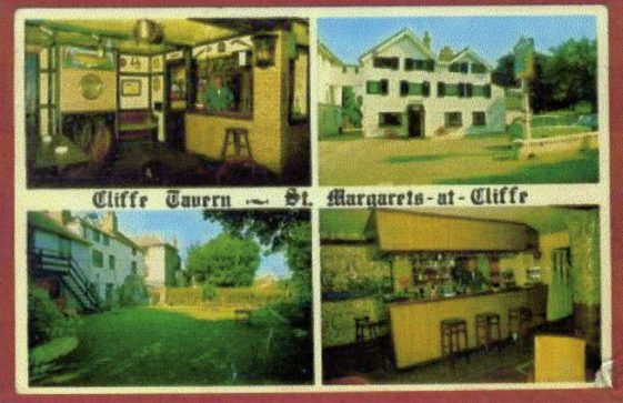A copy of a Cliffe Tavern trading card.  c1960