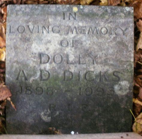Gravestone of DICKS Ada D 1993