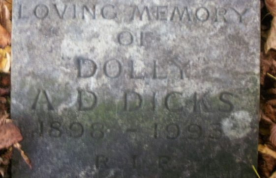 Gravestone of DICKS Ada D 1993