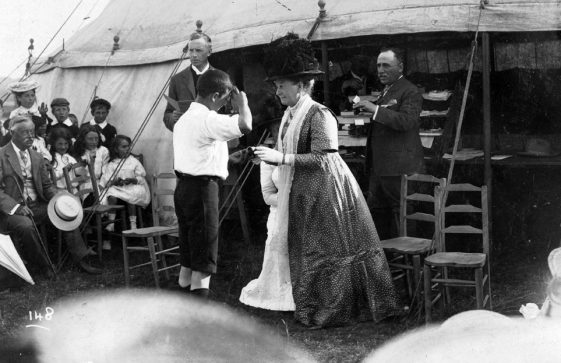 Prizegiving at the Children's St Margaret's Sports Day.  July 1911