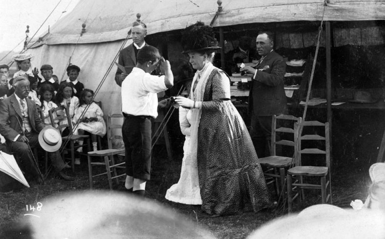 Prizegiving at St Margaret's Children's Sports Day. July 1911